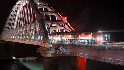 Eerste Russische trein arriveert op de Krim: Oekraïne start procedure wegens schenden territoriale grenzen