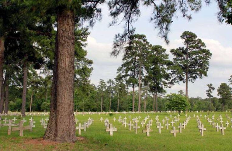 Een begraafplaats voor gevangenen in Huntsville.