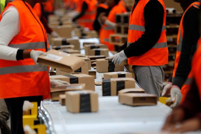 Het distributiecentrum van Amazon in Saran, Frankrijk.
