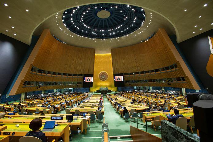 De vergadering van de VN in New York