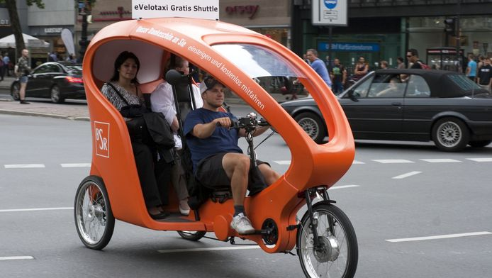 Vélo-taxi à Berlin