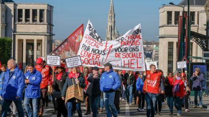 Brusselse ambtenaren de straat op voor minder werkdruk en meer loon