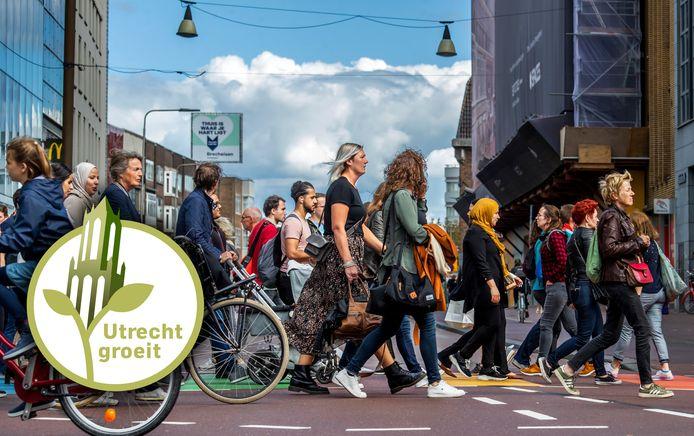 Drukte op zaterdag in de Utrechtse binnenstad.