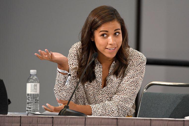 Alexi McCammond op een congres in 2018.  Beeld Getty Images