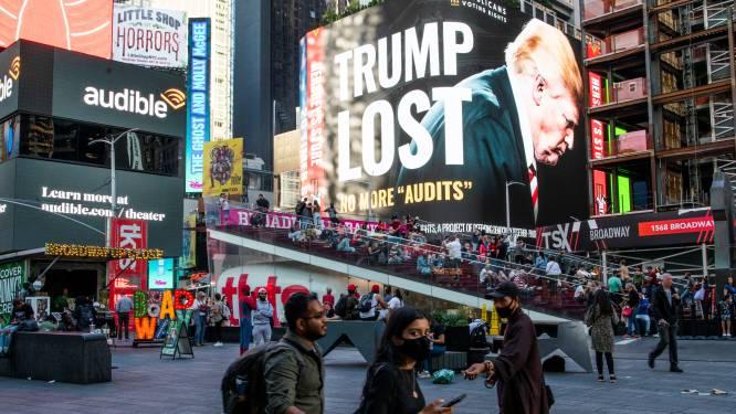 Un immense panneau installé à Times Square pour demander à Donald Trump... d'accepter les résultats des élections