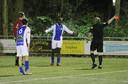 In het shirt van Be Quick Zutphen tegen TVC'28. Michel Bakanga krijgt de rode kaart en moet vertrekken.