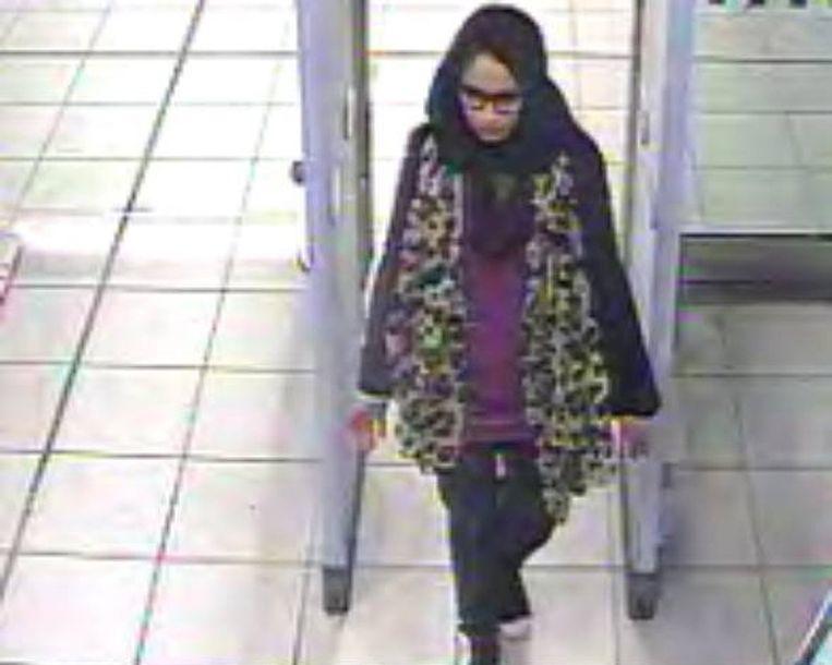 De Londense Shamima Begum vertrok in 2015 naar Syrië om zich bij IS aan te sluiten.  Beeld EPA