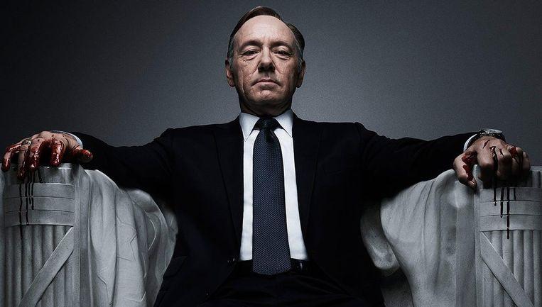 Kevin Spacey geniet momenteel vooral bekendheid als de Amerikaanse president Frank Underwood in de Netflix-serie 'House of Cards'. Beeld Netflix