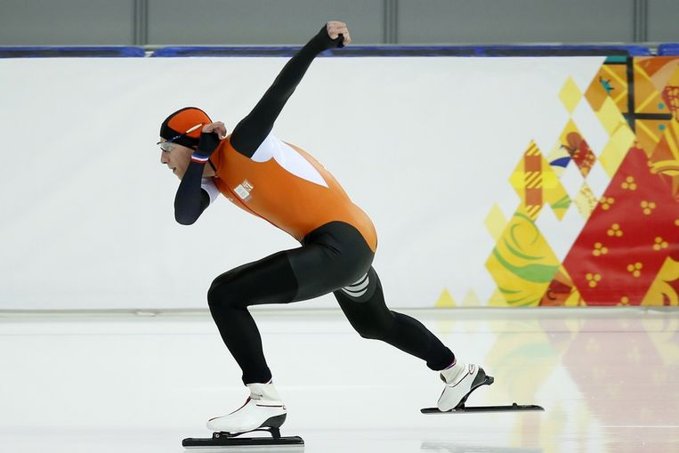 Jan Blokhuijsen tijdens zijn 1500 meter, afgelopen zaterdag. Beeld null