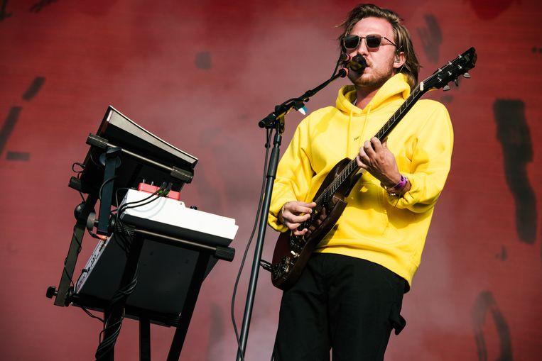 Simon Nuytten, de gitarist van Bazart. Beeld Damon De Backer