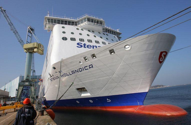 De ferry tussen Hoek van Holland en Harwich. Beeld EPA