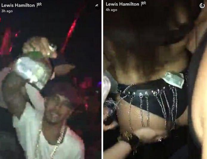 Lewis Hamilton ging al meestal de feestnacht verkennen in Miami.