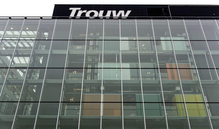 Het logo van dagblad Trouw. Beeld anp
