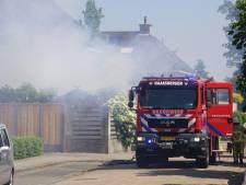 Brand bij woning Haaksbergen: schuur volledig verwoest