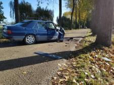 Vrouw botst tegen boom in Winssen