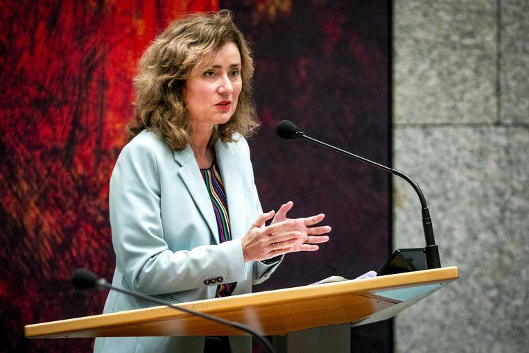 Vera Bergkamp (D66) tijdens een overleg in de Tweede Kamer in 2019.  Beeld ANP