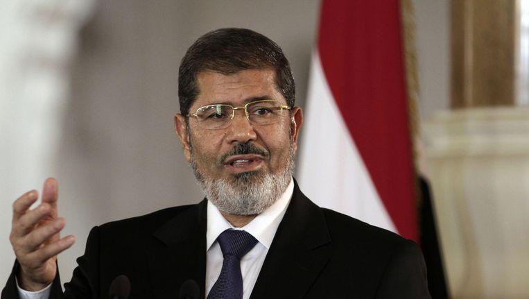 De verdreven president Mohamed Morsi. Beeld ap