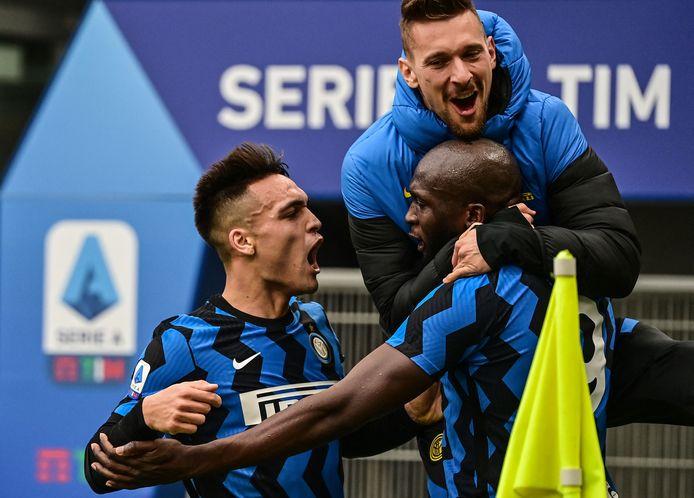 Romelu Lukaku was met een goal en een assist bepalend voor Inter.
