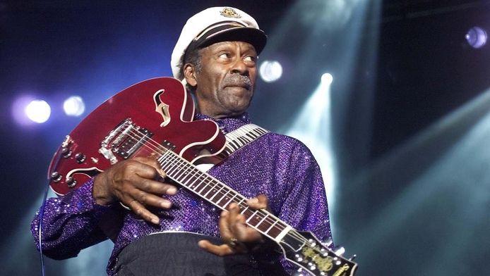 Chuck Berry in 2000 in de Statenhal in Den Haag