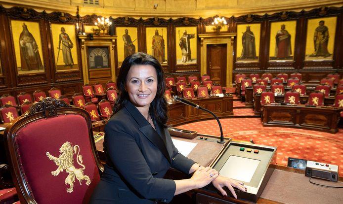 Stephanie D'Hose, voorzitter van de Senaat en fractieleider van Open Vld Gent.
