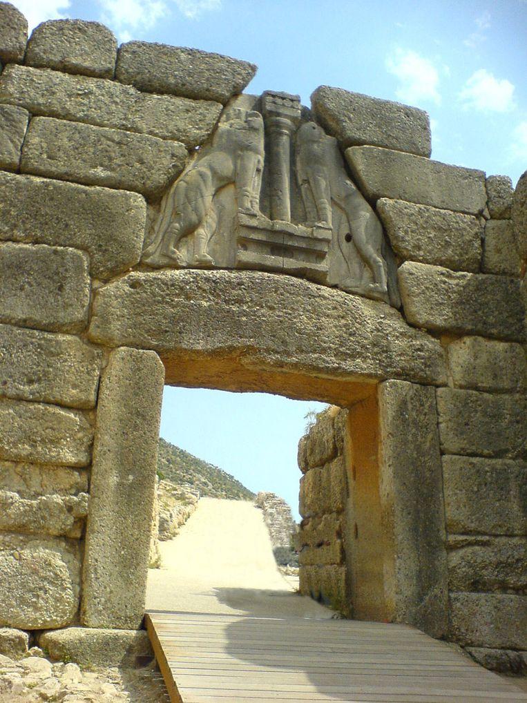 De Leeuwenpoort in Mycene. Beeld kos