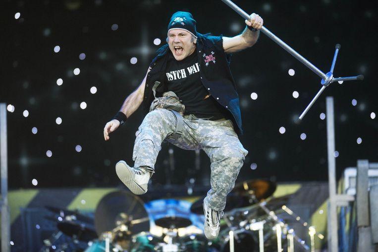 Iron Maiden is een graaggeziene gast in België. Op de foto: frontman Bruce Dickinson op Rock Werchter 2011. Beeld Alex Vanhee