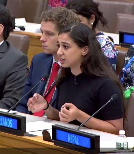 Hajar Yagkoubi uit Helmond na haar toespraak voor VN: 'Ik hoop dat mijn boodschap is aangekomen'
