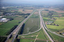De A15 nabij knooppunt Ressen.