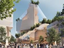 Stoffig winkelcentrum Heuvel moet plaatsmaken voor hypermodern, groen stadshart met 'muziektoren'
