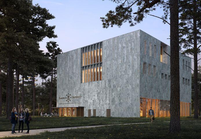 Impressies van Gebouw 2 op de Tilburg University