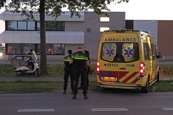 Het ongeluk gebeurde op de Sluisweg in Waalwijk.
