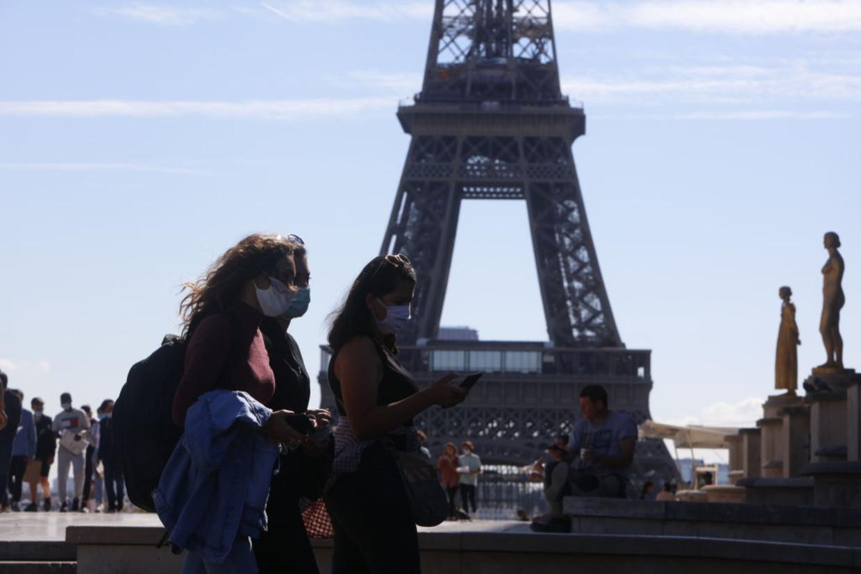 Toeristen in Frankrijk Beeld NurPhoto via Getty Images
