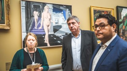 Minister Jambon even op 'stage' in Gents Museum voor Schone Kunsten