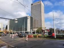 Verkeerschaos rondom Hofplein door werkzaamheden aan de tramrails