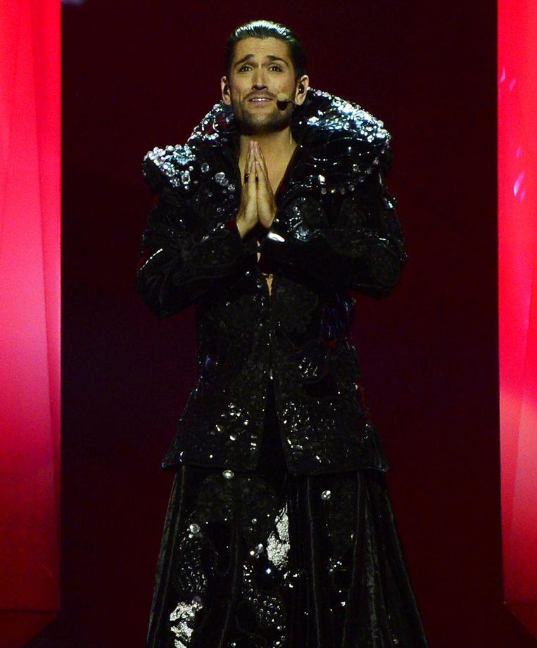 Cezar zingt It's My Life voor Roemenië. Beeld ANP