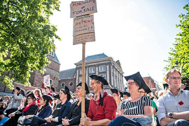 Alternatieve Opening Academisch jaar op het Gerechtplein in Leiden, 2 september 2019. Beeld null