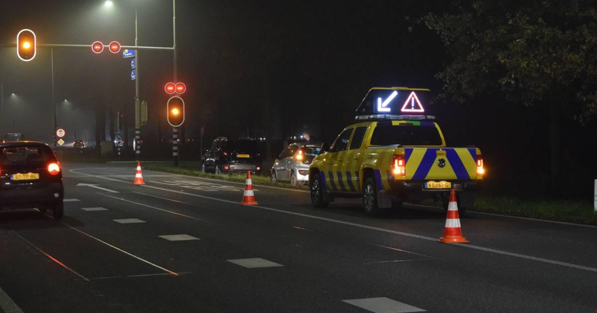 Verkeer compleet vast door twee ongelukken met zes auto's bij Doetinchem.