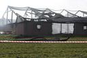 Een grote brand in een varkensschuur aan de Zwaluwstraat heeft grote schade aangericht in 2017.
