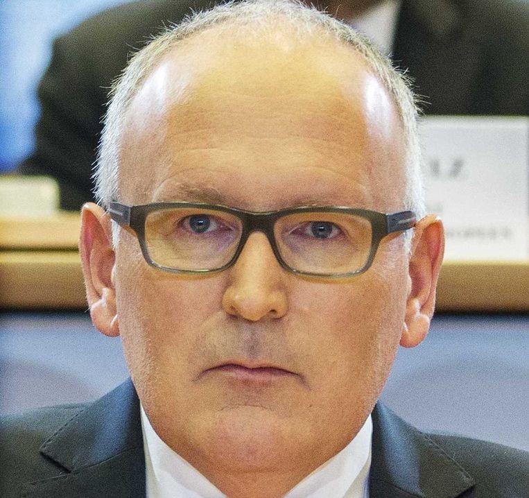 Minister Frans Timmermans van Buitenlandse Zaken verwacht diplomatieke schade in de betrekkingen met Marokko. Beeld anp