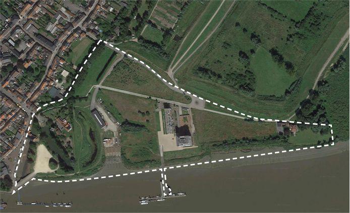 Het projectgebied omvat de oude scheepswerf maar ook het Mercatoreilandje dat meer aansluiting zal krijgen bij de CNR-site.