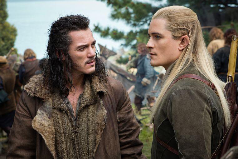 Luke Evans (links) en Orlando Bloom in The Hobbit: The Battle of the Five Armies.  Beeld AP