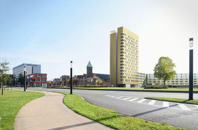 Zo zal het nieuwe gebouw van Dijledal eruitzien aan het Artoisplein.