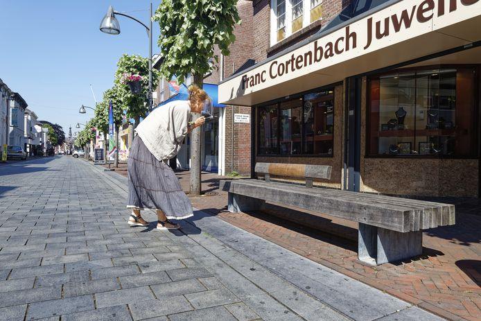 In het centrum van Waalwijk is een aantal bankjes aangekleed met leer, waarop teksten in het dialect staan. Het straatmeubilair verwijst naar de rijke schoen- en lederindustrie.