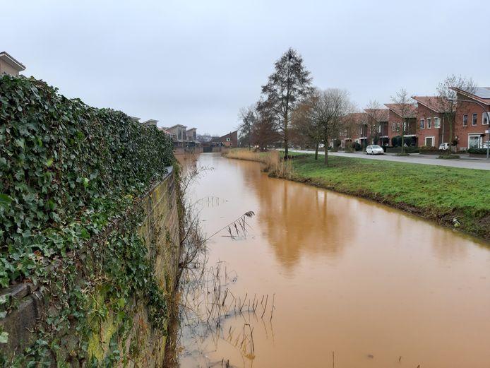 De waterplas aan de Grand Canal in de wijk Nijrees ligt er niet fraai bij.