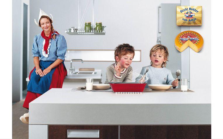 Beeld uit een recente campagne van Frau Antje, 'de bekendste Nederlandse in Duitsland'. Beeld