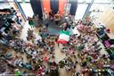 Leerlingen van basisschool 't Slingertouw in Eindhoven tijdens een viering vorig schooljaar.