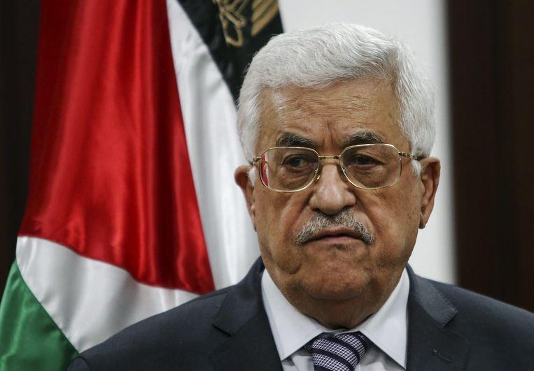 De Palestijnse president Mahmoud Abbas. Beeld epa