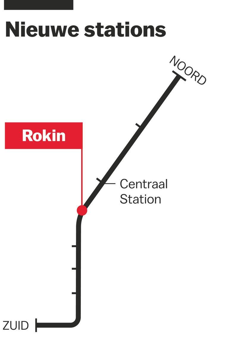 Station Rokin Beeld Laura van der Bijl