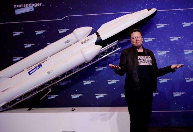 Elon Musk, eigenaar van SpaceX, kan altijd wel een nieuw lanceerplatform gebruiken.  Beeld EPA