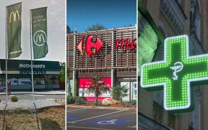 Les trois jeunes malfrats ont attaqué un McDonald's, des supermarchés Carrefour et une pharmacie.